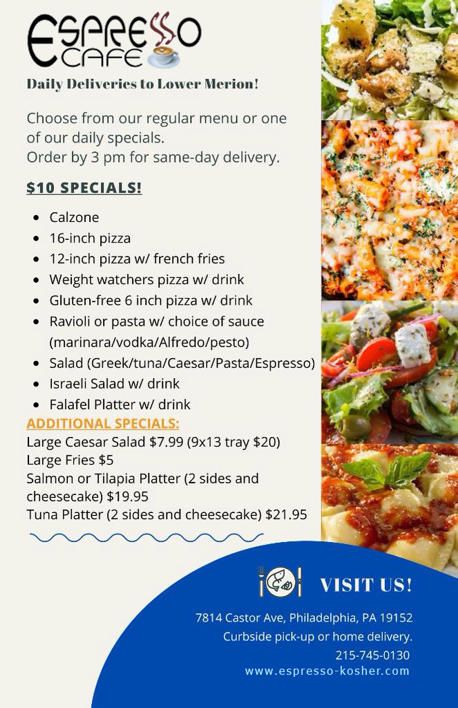 $10 specials are here! Order today! We deliver!